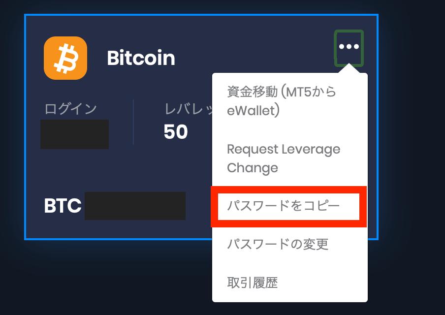 MT5アカウント情報